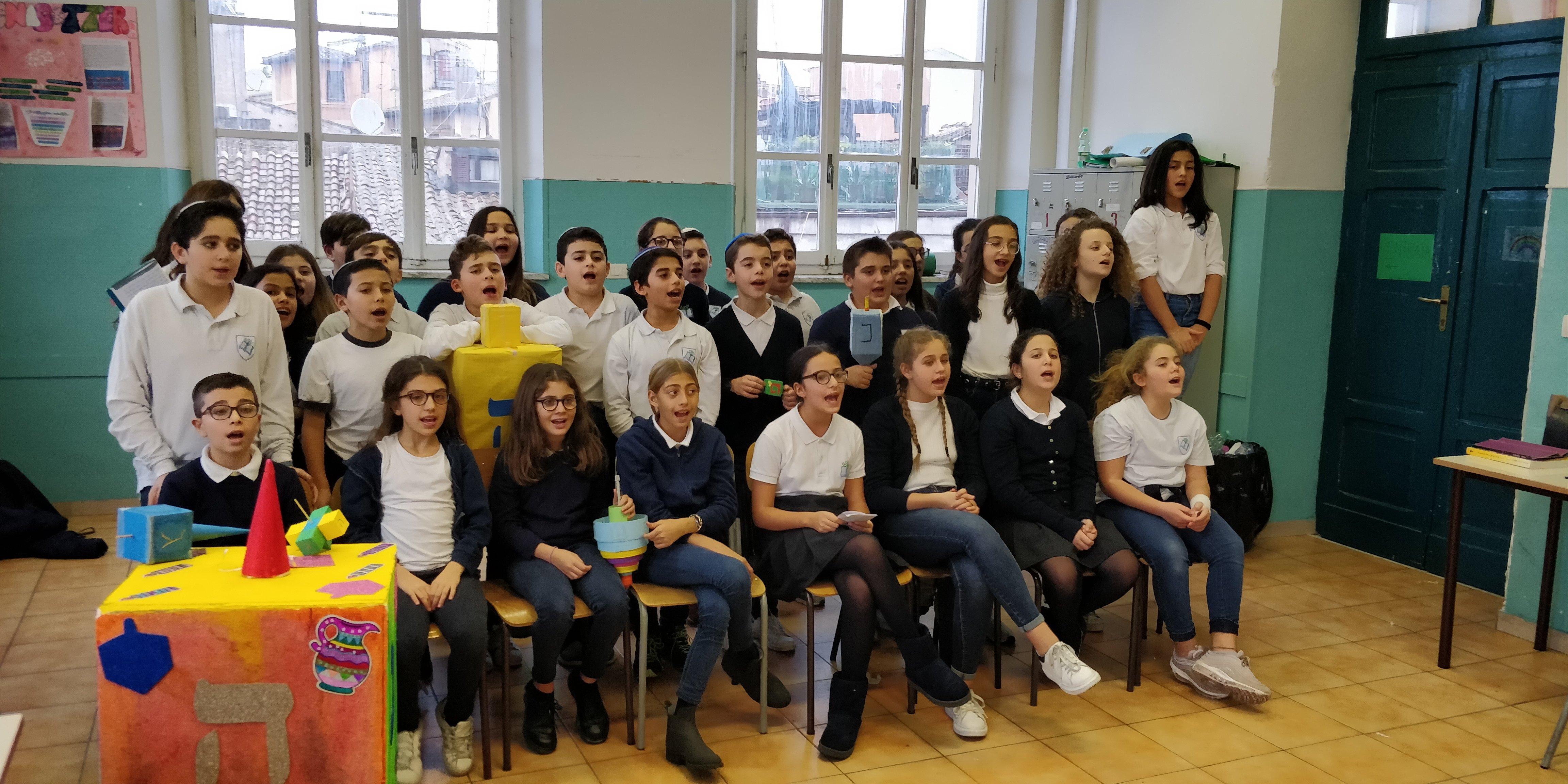 Foto di gruppo con Dreidel